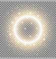 light ring with stardust golden color vector image