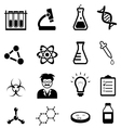 Science and Scientific Discovery Icons vector image