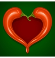 Two red hot chilli pepper frame vector image