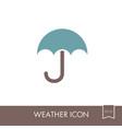 umbrella rain icon meteorology weather vector image