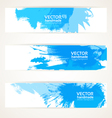 Abstract blue handdrawing banner set vector image vector image