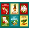 Christmas card set for New Year holidays design vector image vector image