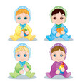 baby character baby toys vector image
