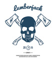 Skull with Crossed Axes vector image vector image