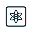 atom icon Rounded squares button vector image