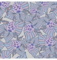 Seamless texture with ornate flowers and leaf vector image vector image