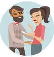 couple with positive pregnancy test vector image vector image