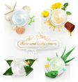 Cream concepts set of vector image