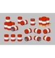 Cube World Red metal barrels vector image