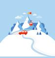 design concept ski mountain vector image