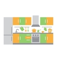 Flat Design of Kitchen Interior vector image