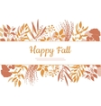 Flat design style Happy Fall card template vector image