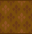 Heraldic lily on a seamless woolen pattern vector image