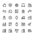 industrial line icons 6 vector image