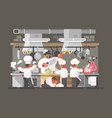 kitchen of restaurant vector image
