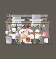 kitchen of restaurant vector image