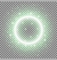 light ring with stardust green color vector image