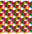 Seamless background with colored triangles vector image