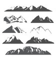 set of mountains on white vector image