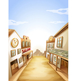 Different types of establishments vector image vector image