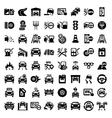 big auto icons set vector image
