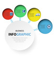 abstract circle infographics web design marketing vector image vector image