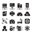 computer network device data communication icon vector image
