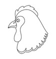 farm hen isolated icon vector image