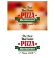 Italian pizza restaurant label vector image vector image