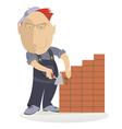 bricklayer vector image