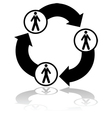 Business connections vector image vector image