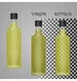 Realistic Olive Oil Bottle Mockup With Transparent vector image