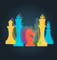 chess pieces business sign corporate identity vector image