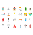 City elements icons set vector image
