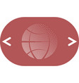 flat paper cut style icon of globe vector image