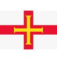 Guernsey flag vector image
