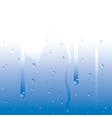 raindrops on window vector image