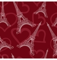 Seamless eiffel tower background pattern vector image