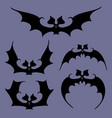 set of bats for halloween vector image