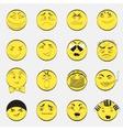 Set of Emoji Characters vector image