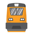 train flat icon transport and vehicle locomotive vector image