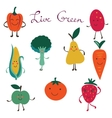 Fruits and vegetables colorful collection vector image