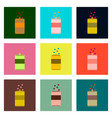 set pixel icons can of soda vector image
