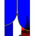 al 0749 zipper france flag vector image vector image