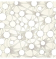 Abstract pattern of connected circles vector image