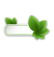 Eco friendly banner with green leaves vector image vector image