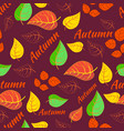 autumn pattern seamless background vector image