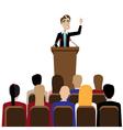 Businessman public speaking vector image