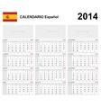 Calendar 2014 Spain Type 19B vector image