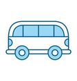 cute blue car cartoon vector image